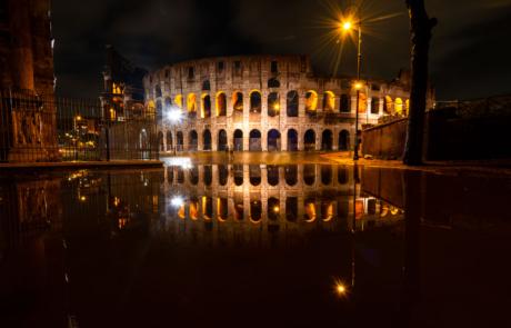 Colosseum Rome avondfoto
