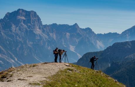 Deelnemers fotoreis Dolomieten