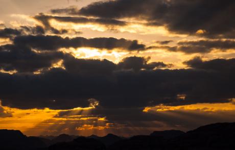 Fotografie Zonsondergang Wadi Rum Midden Oosten Woestijn