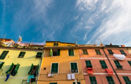 Gekleurde huizen fotografen Cinque Terre