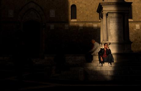 Italie Siena fotografie straat