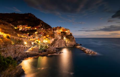 Manarola avondfotografie sunset reisfotografie Cinque Terre