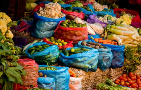Nepal Kathmandu Fotoreis Markt Eten Straatfotografie