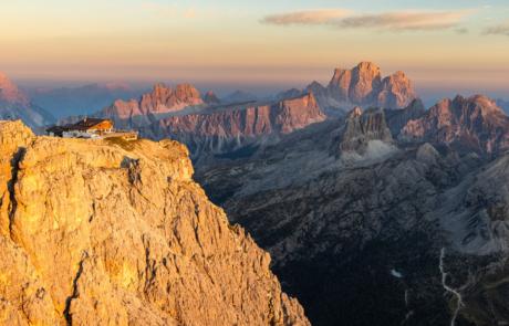 Overnachten in berghut fotoreis Dolomieten Italie
