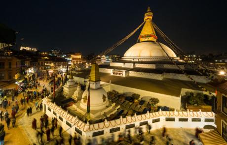 Stupa Kathmandu Fotoreis Straatfotografie fotografie avondfotografie