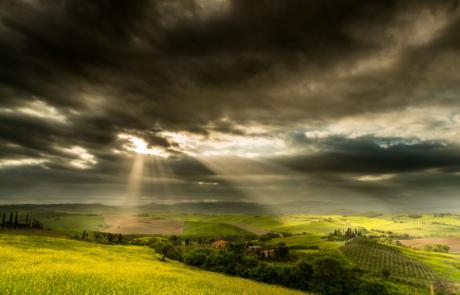Toscaans landschap rollende heuvels fotoreis