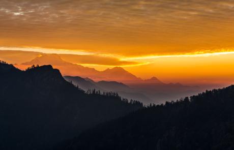 Zonsopkomst Nepal Bergen Landschapsfotografie