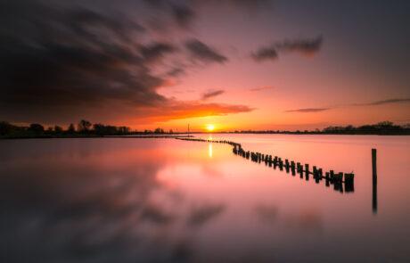 Rivierlandschap fotograferen aan water