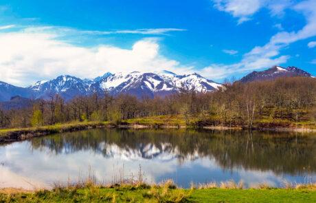 Uitzicht op de Picos Europa Asturie